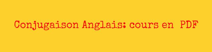 Conjugaison Anglais Pdf Anglais Pdf Com
